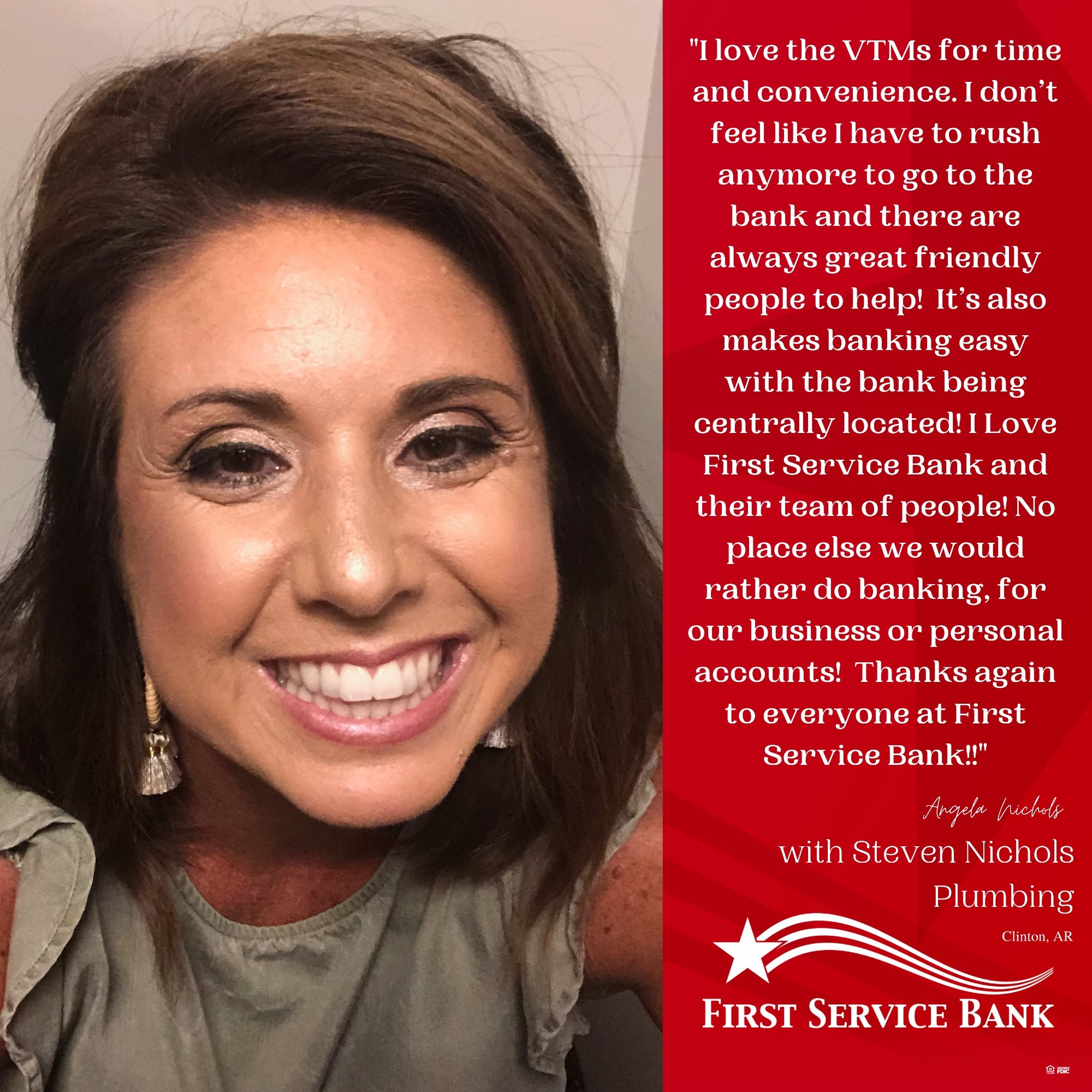 I Love First Service Bank and their team of people!